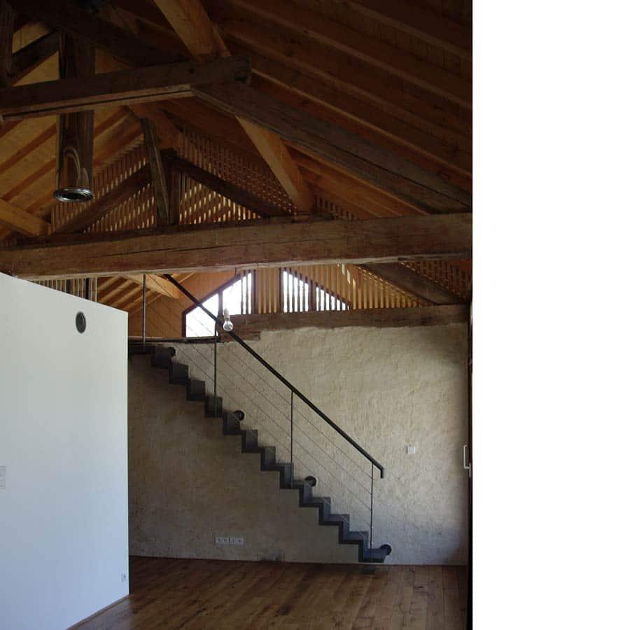 transformation d une grange en habitation lucinges chapuis royer architectes grenoble. Black Bedroom Furniture Sets. Home Design Ideas